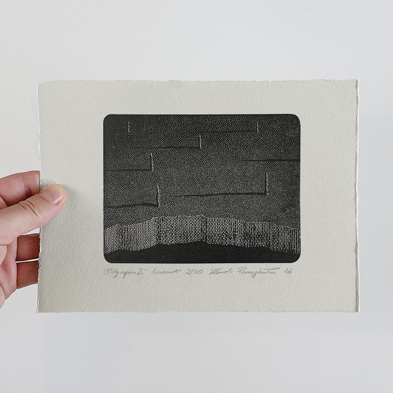 1_karol-pomykala-linocut-printmaking-pilgrim-2