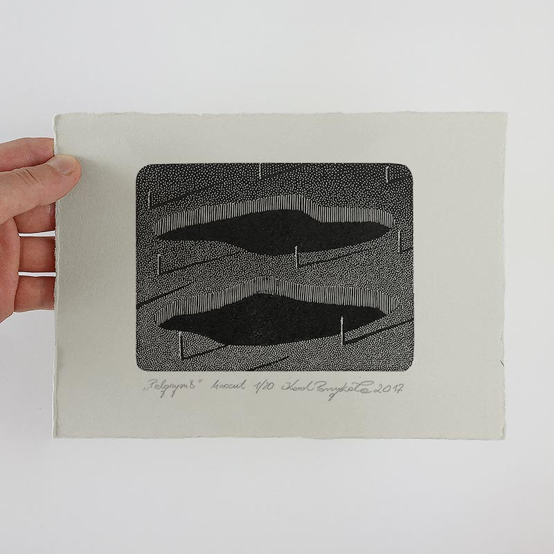 1_karol-pomykala-linocut-printmaking-pilgrim-8