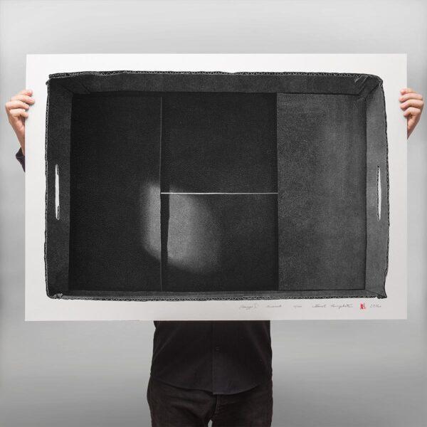 Prezentacja grafiki artystycznej w technice linorytu punktowego autorstwa Karola Pomykała