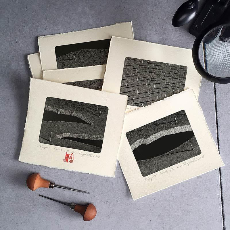 2_karol-pomykala-linocut-printmaking-pilgrim-1