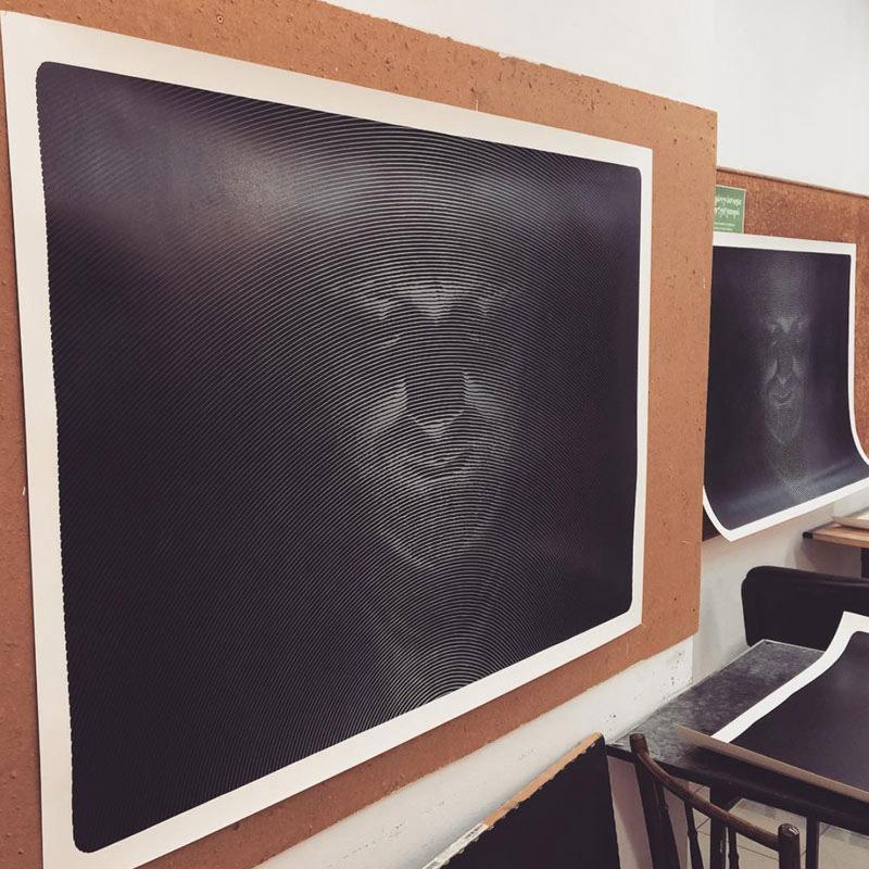 3_karol-pomykala-linocut-printmaking-personal-space-face-1
