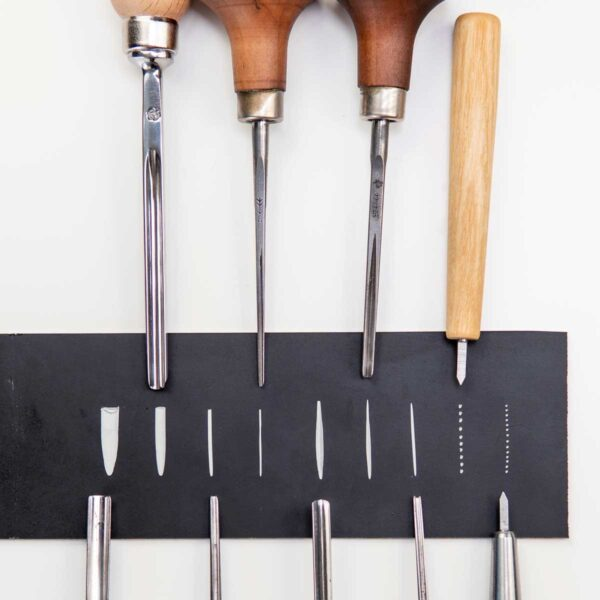chisels and dot tool for linocut and woodcut