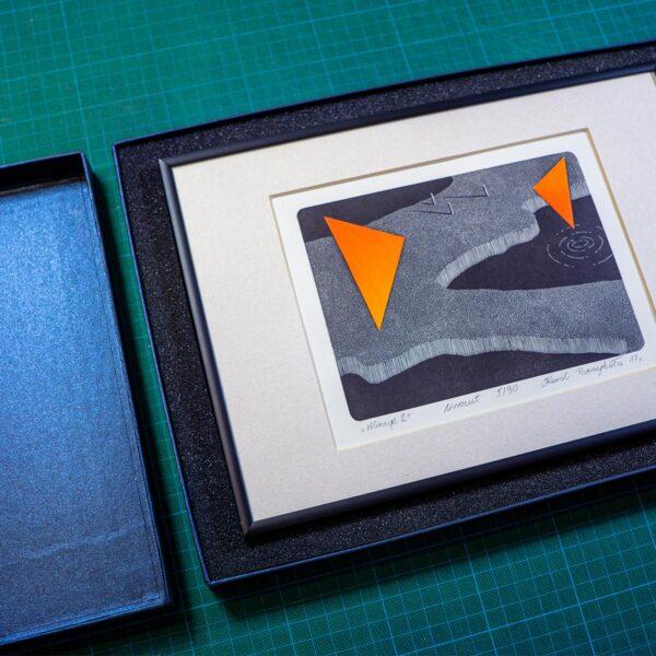 grafika opakowana w specjalne pudełko i ramkę ze szkła
