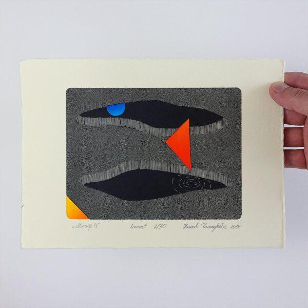 Grafika artystyczna wydrukowana na papierze
