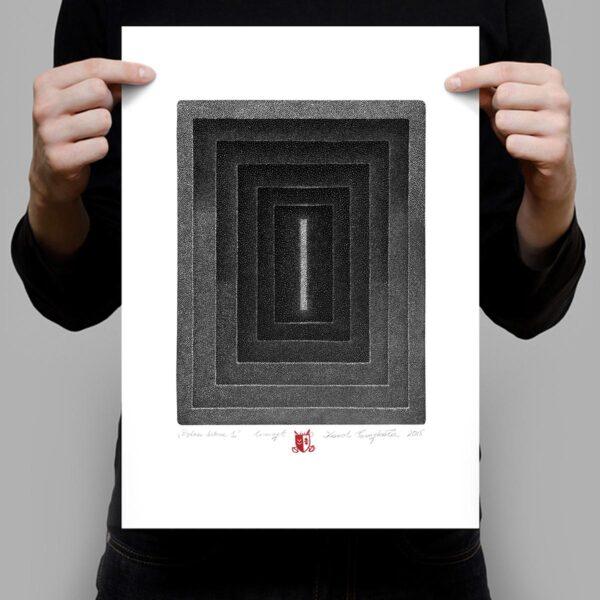 grafika artystyczna stworzona z setek punktów autorstwa Karola Pomykała