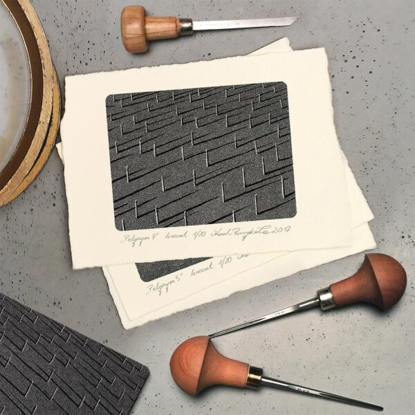 linocut graphics and chisels for Pfeil graphics